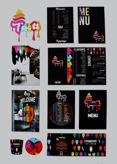 #Level4 Graphic Design ice-cream brand project // Presentation spread no.2 // ©Jennie Aitken