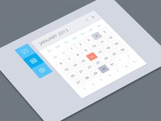 Flat Metro Style Calendar with Toolbar - http://www.welovesolo.com/flat-metro-style-calendar-with-toolbar/