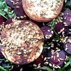 #food #manouri #greek #cheese #liaskitchen styler on #welsh #organic salad