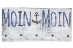 Moin-Moin, Holzschild, Haken
