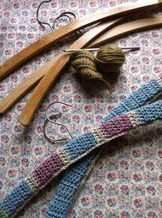 How to make a crochet coat hanger cover