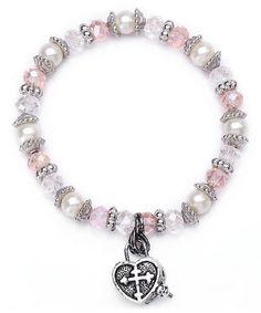 Look what I found on #zulily! Pink Prayer Box Bracelet #zulilyfinds