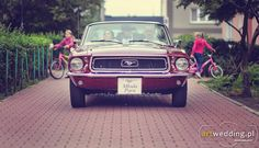 Beautifull Wedding Mustang #mustang #car #wedding http://artwedding.pl/galeria,przed/