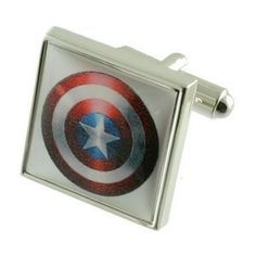 Captain America Super Hero Cufflinks