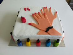 Manicurist nail polish cake cute!