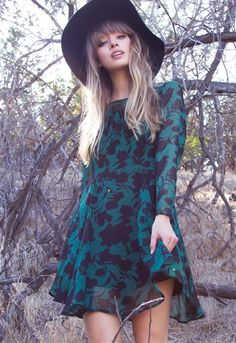 Gorgeous Fall style with a vintage flare. Vintage Cassidy Dress in store and online at Lauren Nicole.