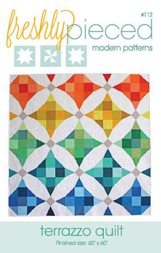 This simple but modern take on a classic pattern and puts a fresh twist on the nine patch block with and illusion of curved piecing. Pattern includes options for both paper-piecing and traditional pie