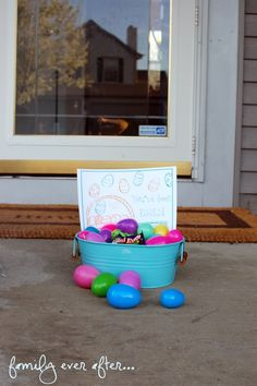 You have been Egged - such a cute idea! {free printable}