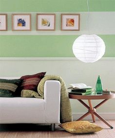 Two tone paint with stripe thru the wall