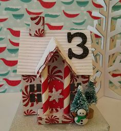 Only 23 more houses to finish #3 house tim holtz vintage village die cut