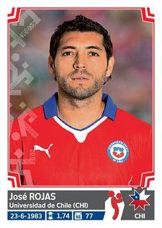 030 José Rojas - Chile - Copa America Chile 2015 - PANINI