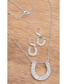 Silver Strike® Embellish Silver Horseshoe Jewelry Set