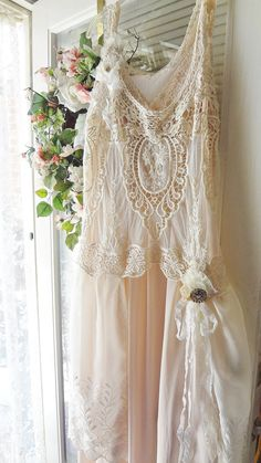 Altered Couture Blush Wedding Dress Downton by BerthaLouiseDesigns, $259.95
