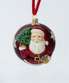 """Jingle Ball"" Red American Starlight Santa from Vaillancourt Folk Art"