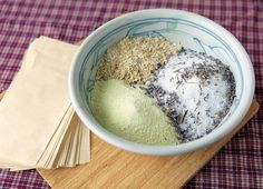 Lavender Oatmeal Tub Tea: epsom salts, dried lavender, lavender essential oils, oatmeal, powdered milk - mix it up and wrap it up in a large tea filter for a luxurious, mess-free bath! (Ideal for Mother's Day!)