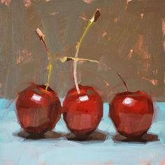 """Cheery Cherries"" by Carol Marine  By far the best art teacher I've had the pleasure of having."