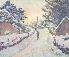 Lucien Pissarro, 'Ivy Cottage, Coldharbour: Sun and Snow' 1916