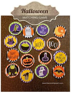 It's Written on the Wall: 33 Fun Halloween Games Treats and Ideas for your Halloween Party Halloween Tags, Halloween Potions, Halloween Birthday, Halloween Party Decor, Holidays Halloween, Halloween Pumpkins, Halloween Crafts, Family Halloween, Sweet Like Candy