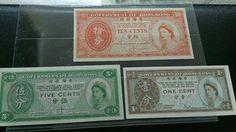 1964年英女王五分和十分紙幣。