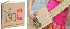 Toys That Require Imagination & Curiosity: a cardboard box