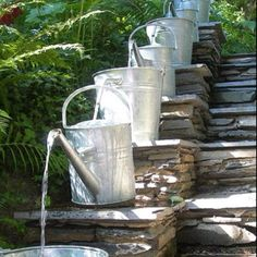 country fountain idea... garden :)
