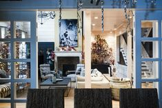 A Dream Home Decorating Ideas On Christmas: warm home christmas living room interior decor with wooden white walls and fireplace
