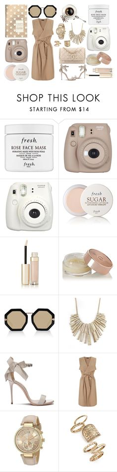 """""""Untitled #313"""" by mayer-fruzsina ❤ liked on Polyvore featuring Fresh, By Terry, Charlotte Tilbury, Karen Walker, Graine, Casadei, Miss Selfridge, Michael Kors and Topshop"""