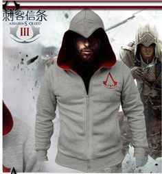 mens hairstyles New Assassin's Creed 3 Desmond Miles Hoodie Costume Coat Jacket Cosplay Hoodie/ Embroidered Assassins Creed 3 hoodie jackets ** AliExpress Affiliate's Pin.  Locate the AliExpress offer simply by clicking the VISIT button