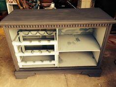 Turn a Dresser Into a Wine Bar!