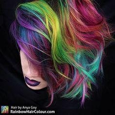 Hair by Anya Goy Visit the website/blog for tutorials, book and video on how to do bright hair: www.rainbowhaircolour.com
