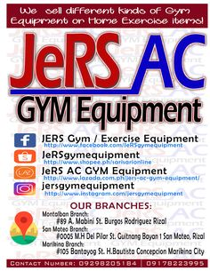 jers ac gym equipment GYM Equipment in the Philippines fb jersgymequipment website dot com dot ph Gym Equipment For Sale, Gym Exercise Equipment, At Home Workouts, Philippines, Marketing, Website, Home Workouts, Home Fitness