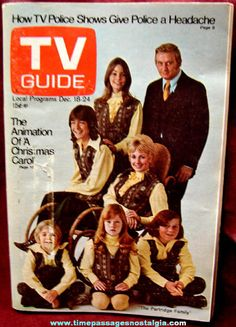 Vintage TV Guide Covers | 1971 Partridge Family Cover TV Guide Magazine - TPNC
