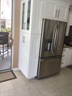 French Door Refrigerator, French Doors, Palm Beach, Kitchen Appliances, Home, Diy Kitchen Appliances, Home Appliances, Ad Home, Homes