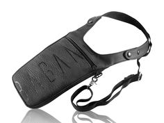 """Revolverbag Halftertasche """"NEO"""" handbedruckte anthrazitfarbene Umhängetasche mit Halfter Festivaltasche Utility Tasche Rind, Accessories, Festival Bags, Artificial Leather, Pouch, Black"""
