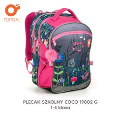 Plecak Topgal, a na nim kolorowa łąka:) G 1, School Bags, Under Armour, Backpacks, Fashion, School Backpacks, Moda, Fashion Styles, Backpack