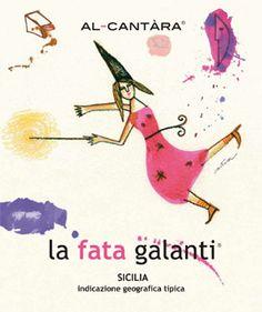 La Fata Galanti - Nerello Cappuccio - Al-Cantara #vino #wine #packaging #naming #design #illustrazione