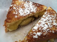 Grilled yankee apple and chocolate pie sandwich - www.theculinarycapers.com review of the MN state fair