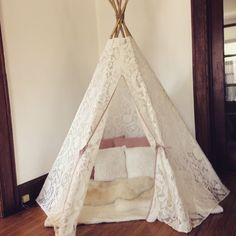 Dreamy Lace Teepee in Play Tent size by aggieandfrancois on Etsy