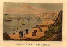 Chain Pier, Brighton, 1836 - sicher nicht viel anders als zu Jane Austens Brighton Sea, Brighton And Hove, Jane Austen, Mr. Darcy, Images Of England, Day Club, Seaside Resort, Scotland, Ireland