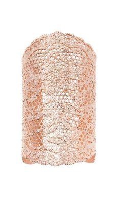Rose gold lace cuff