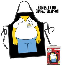 Buy Homer Simpson Be the Character Apron online and save! Look like Homer Simpson when you cook! The Simpsons Homer Be the Character Apron will make you look like you're wearing Homer's classic work uniform . Simpsons Toys, Simpsons Party, Simpsons Characters, The Simpsons, Homer Simpson, Birthday Gifts For Boyfriend, Boyfriend Gifts, Bbq Apron, College Fun