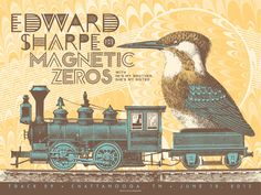 edward sharpe and the magnetic zeros | status serigraph Edward Sharpe & the Magnetic Zeros - Chattanooga, TN ...