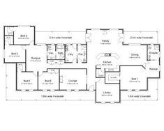 5 bedroom farmhouse floor plans perfect ideas for 5 bedroom modern house plans perfect ideas for Beach House Floor Plans, Bathroom Floor Plans, Ranch House Plans, Dream House Plans, Modern House Plans, Bathroom Laundry, The Plan, How To Plan, Australian House Plans