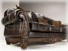 кожаный диван Ashley (США) - всегда актуальная классика