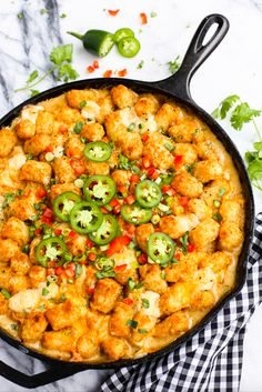 The Kicked-Up Tater Tot Hotdish Will Spice Up Your Mouth With These Fiery Jalapenos