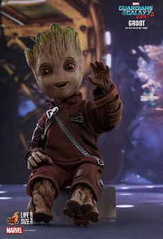 "LIFE SIZE BABY GROOT Hot Toys 12"" Movie Figure ~Sideshow/Guardians Galaxy/Marvel"