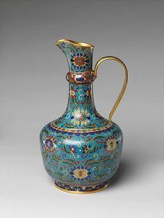 Ewer Qing dynasty (1644–1911) 18th century China Cloisonné enamel