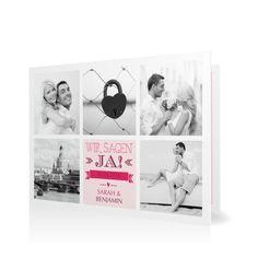 Hochzeitseinladung Mosaik in Sorbet - Klappkarte flach #Hochzeit #Hochzeitskarten #Einladung #Foto #kreativ #modern https://www.goldbek.de/hochzeit/hochzeitskarten/einladung/hochzeitseinladung-mosaik?color=sorbet&design=30&utm_campaign=autoproducts