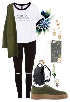 """""""Untitled #136"""" by prinutbutterjelly ❤ liked on Polyvore featuring Steve Madden, H&M, Forever 21, Casetify and Laura Cole"""