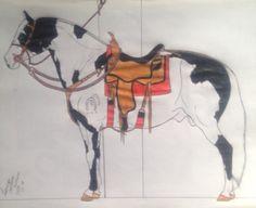 Paint horse. Larii Santana